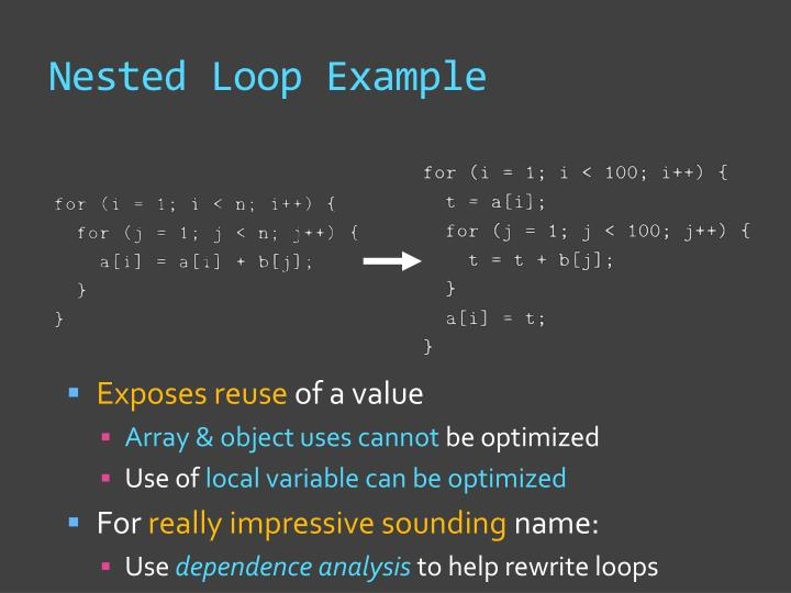 Nested Loop Example