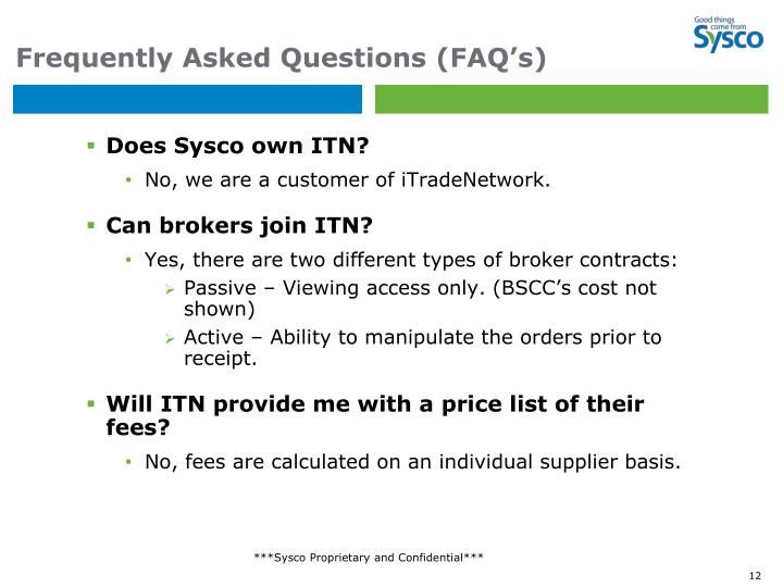 Frequently Asked Questions (FAQ's)