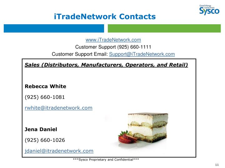 iTradeNetwork Contacts