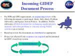 incoming gidep document process