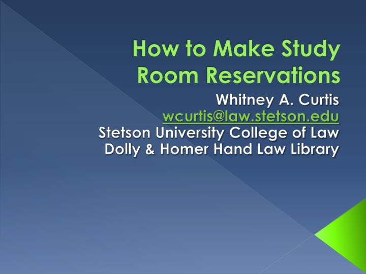 how to make study room reservations n.