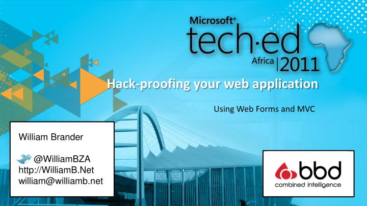 Hack proofing your web application