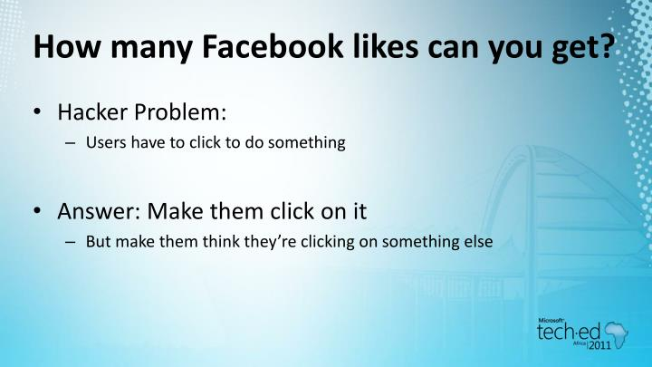 How many Facebook likes can you get?