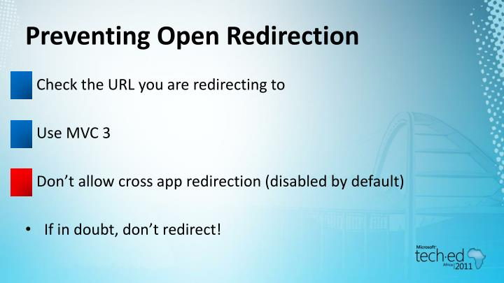 Preventing Open Redirection