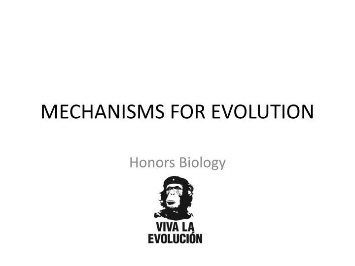 mechanisms for evolution n.
