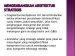 mengembangkan arsitektur strategis