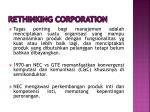 rethinking corporation