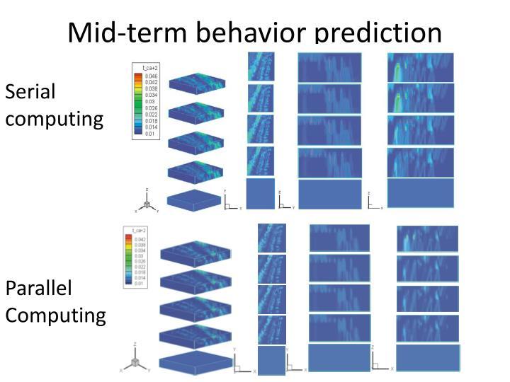Mid-term behavior prediction