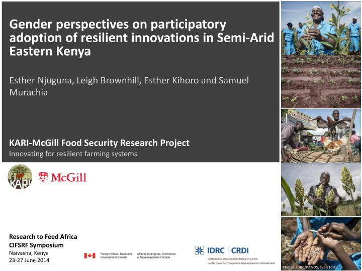 Kari mcgill food security research project innovating for resilient farming systems