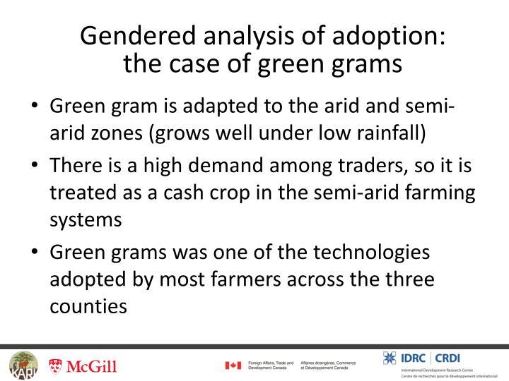 Gendered analysis of adoption: