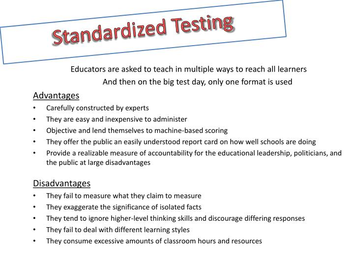 the problems with standardized testing A torrent of complaints has been levelled against testing in recent months some of the criticism is associated with the parcc exams, ohio's new english and math assessments for grades 3-8 and high school.
