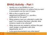 bhag activity part 1
