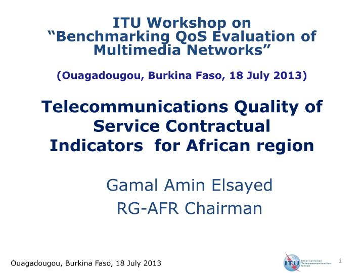 telecommunications quality of service contractual indicators for african region n.