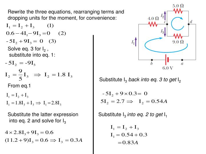 Rewrite the three equations, rearranging terms and