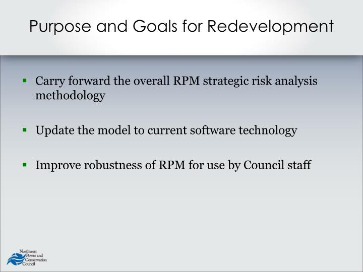 Purpose and Goals for Redevelopment