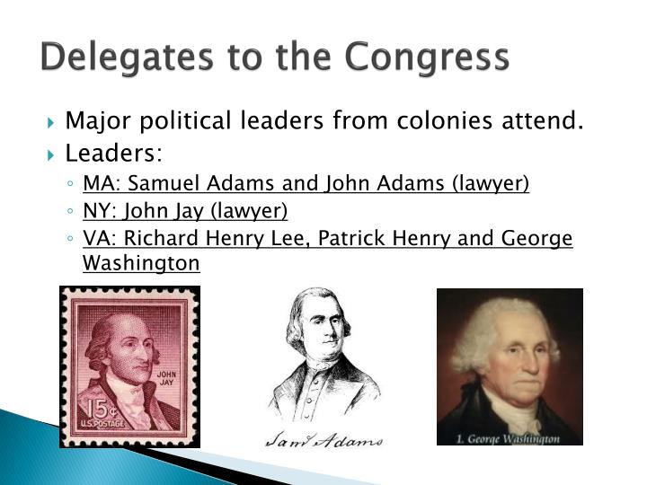 Delegates to the congress