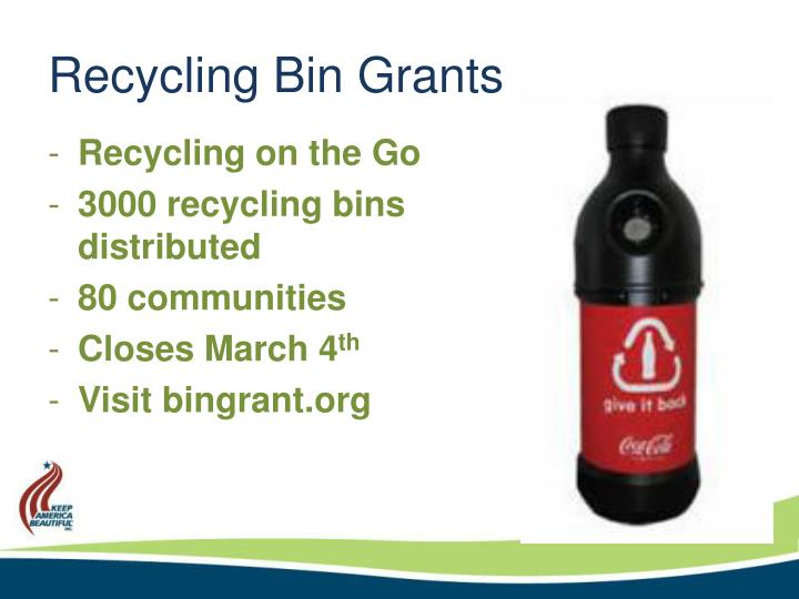 Recycling Bin Grants