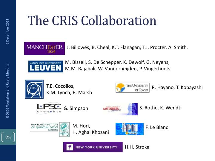 The CRIS Collaboration