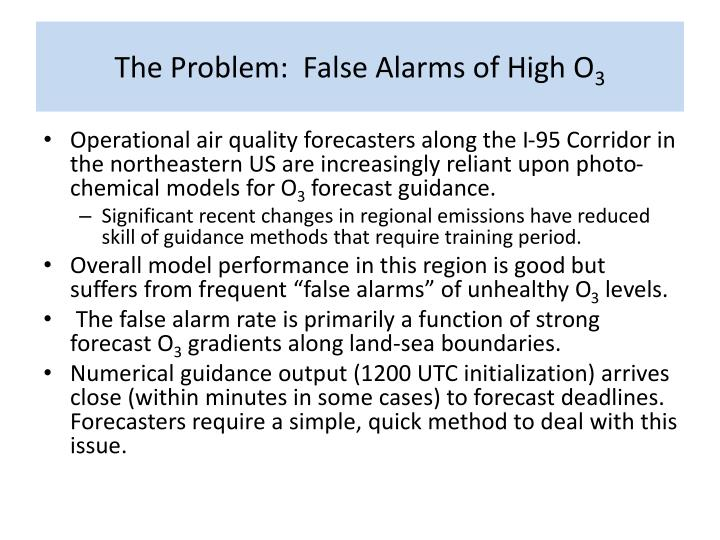 The problem false alarms of high o 3