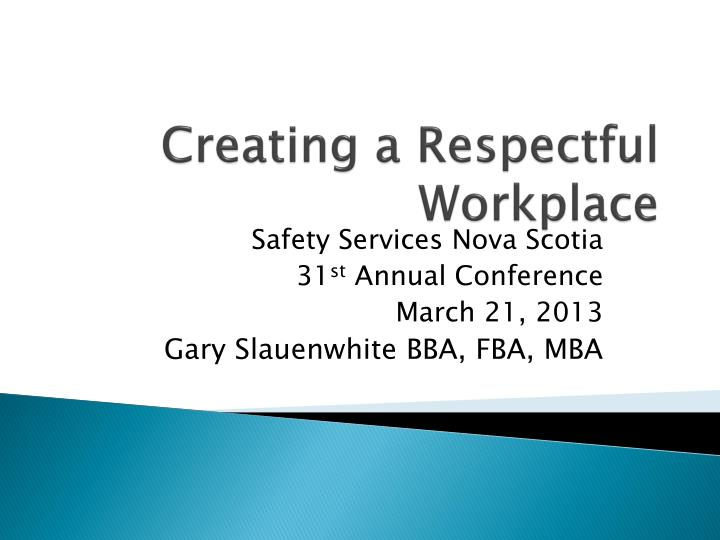 creating a respectful workplace n.