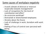 some causes of workplace negativity