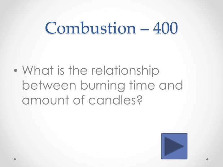 Combustion –