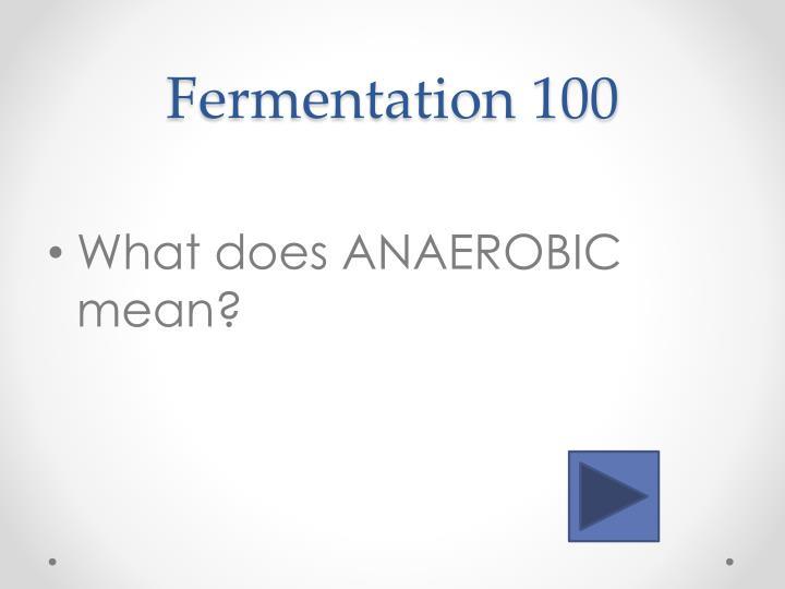 Fermentation 100