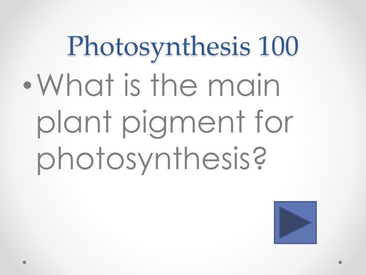 Photosynthesis 100