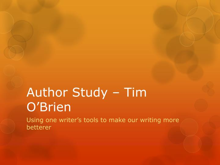 tim obrien rhetorical strategies in the Essay about rhetorical analysis of the things they o'brien uses many different rhetorical strategies  tim o'brien uses several rhetorical strategies.