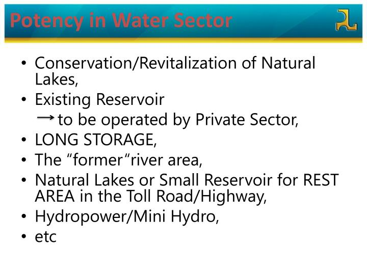 Potency in Water Sector