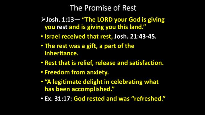the promise of rest n.