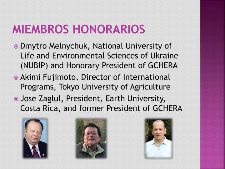 Miembros Honorarios