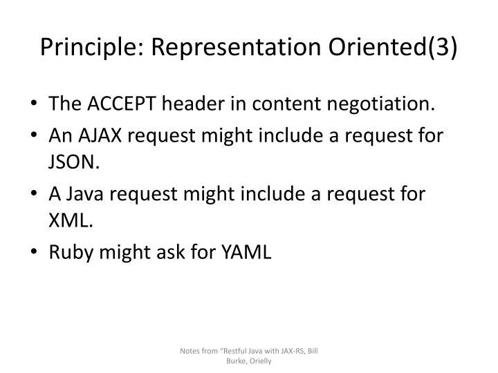 Principle: Representation Oriented(3)