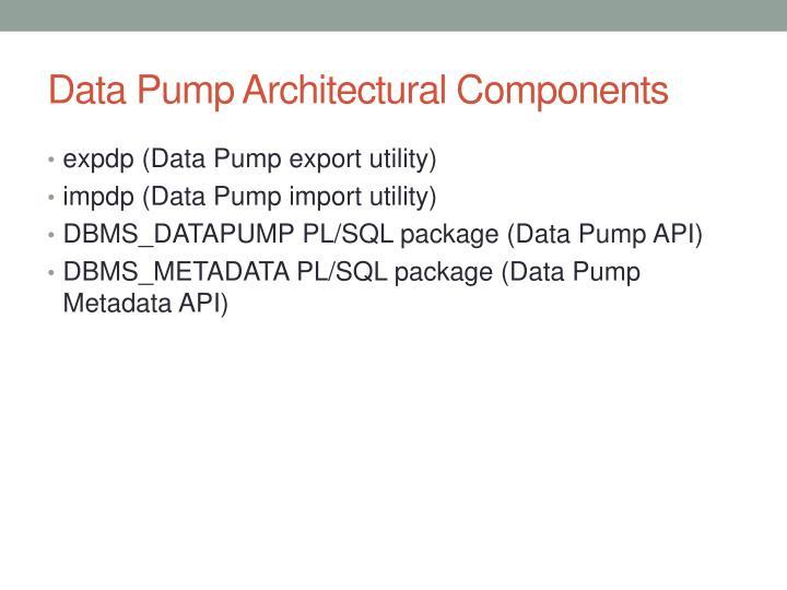Data pump architectural components