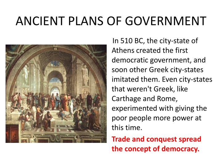 ANCIENT PLANS OF GOVERNMENT