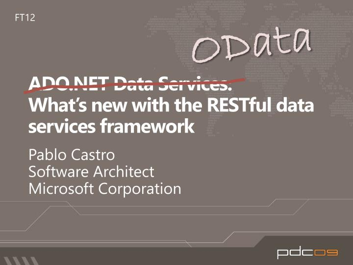 ado net data services what s new with the restful data services framework n.
