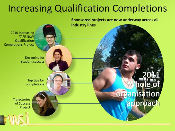 Increasing qualification completions in western sydney institute