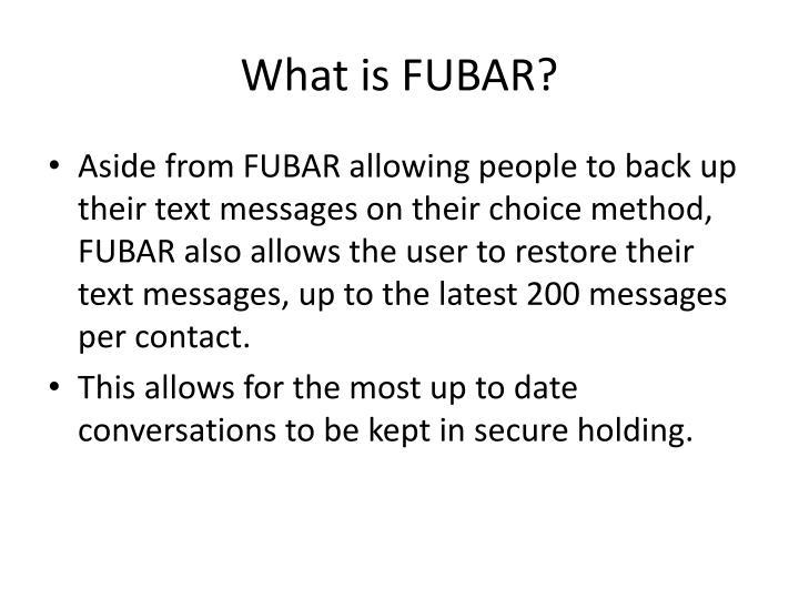 What is fubar1