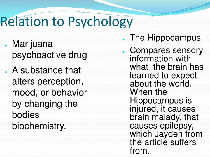 Relation to Psychology