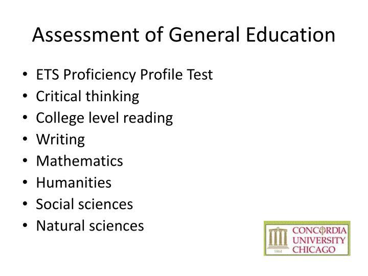Assessment of General Education