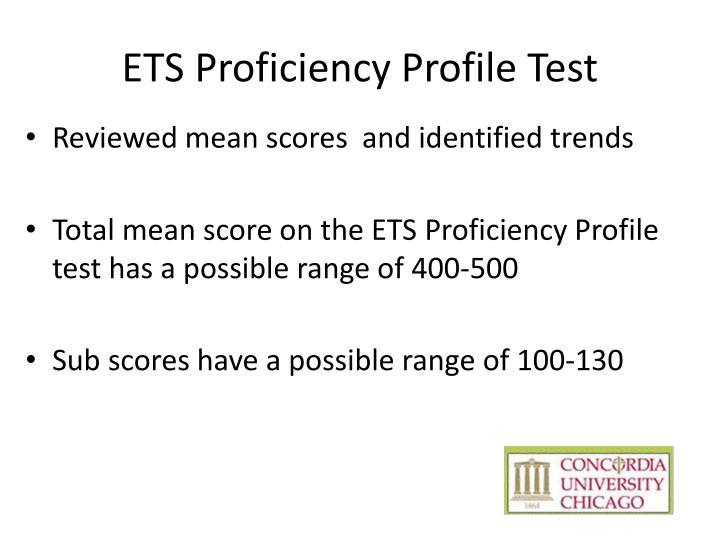 ETS Proficiency Profile Test