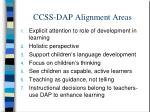 ccss dap alignment areas