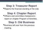step 3 treasurer report