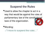 suspend the rules