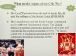 what are the origins of the cold war