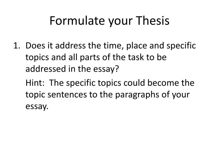 how do you compose a thesis statement Now that you have decided, at least tentatively, what information you plan to present in your essay, you are ready to write your thesis statement the thesis.