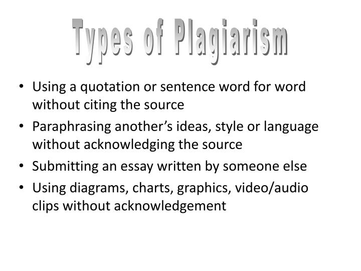 Using a quotation or sentence word for word without citing the source