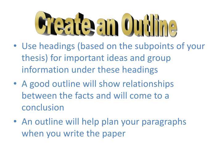 Create an Outline