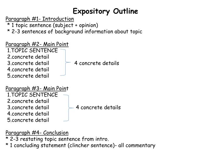 Expository outline