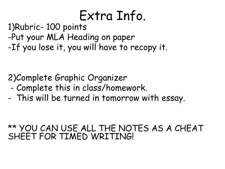 Extra Info.